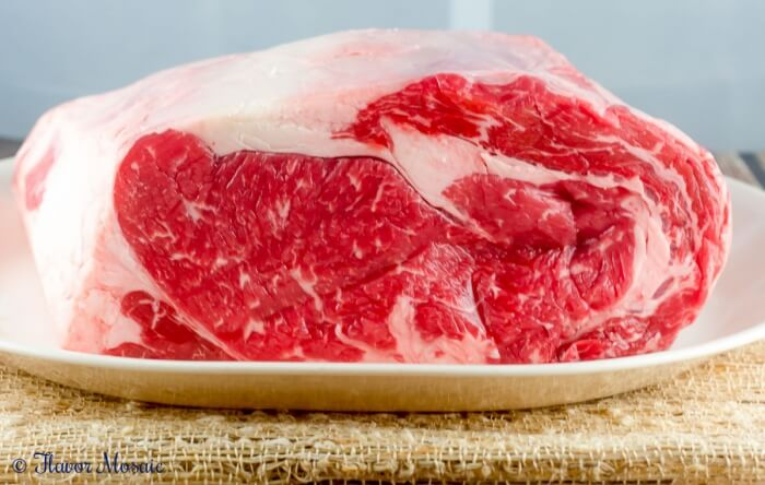 Cajun Herb Prime Rib Ribeye Roast is an easy yet impressive main dish for Christmas or any holiday or special occasion.