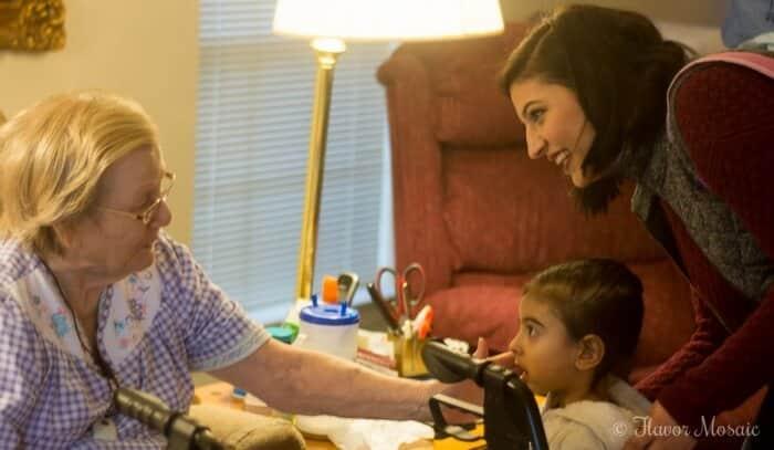 Elvita and Maria meeting Grandma Lois