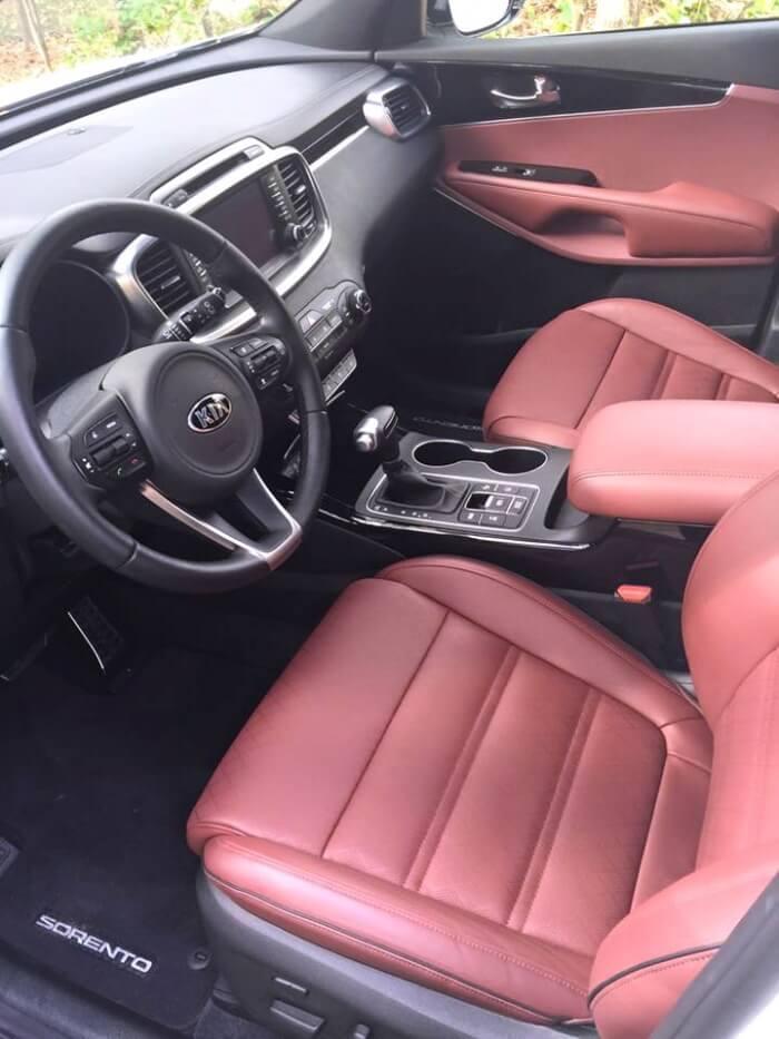 2016 Kia Sorento AWD Interior Front Seats