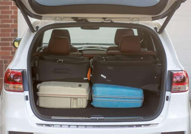 2016 Kia Sorrento plenty of room luggage