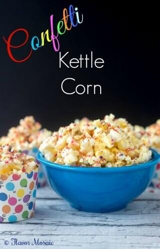 Confetti Kettle Corn Popcorn Recipe by Flavor Mosaic