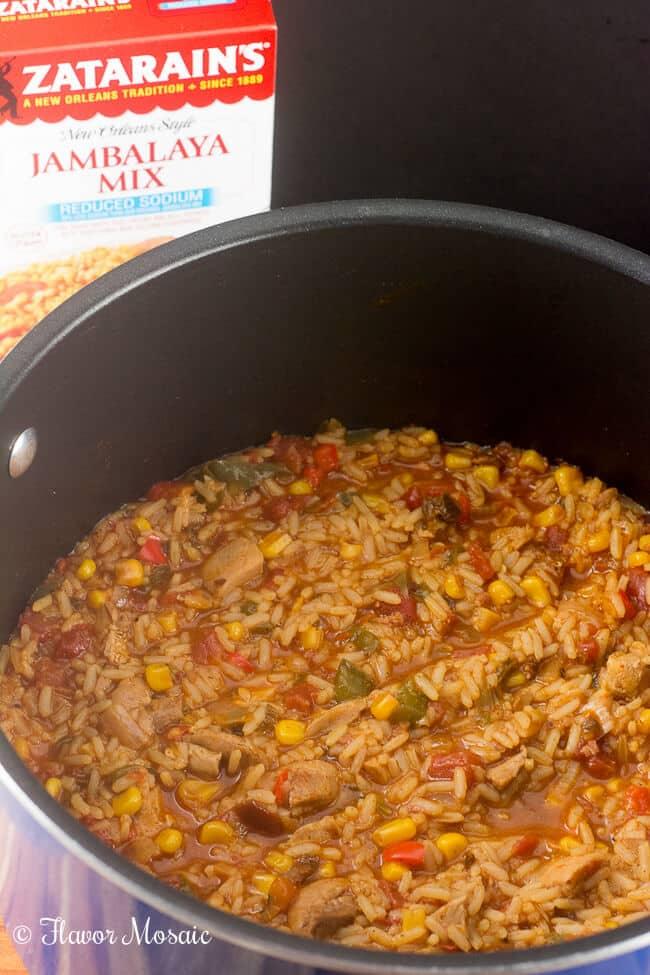 Tex Mex Jambalaya Taco Cups combine Cajun / Creole Jambalaya with Tex Mex seasonings and serves it up in bite sized corn tortilla taco cups.