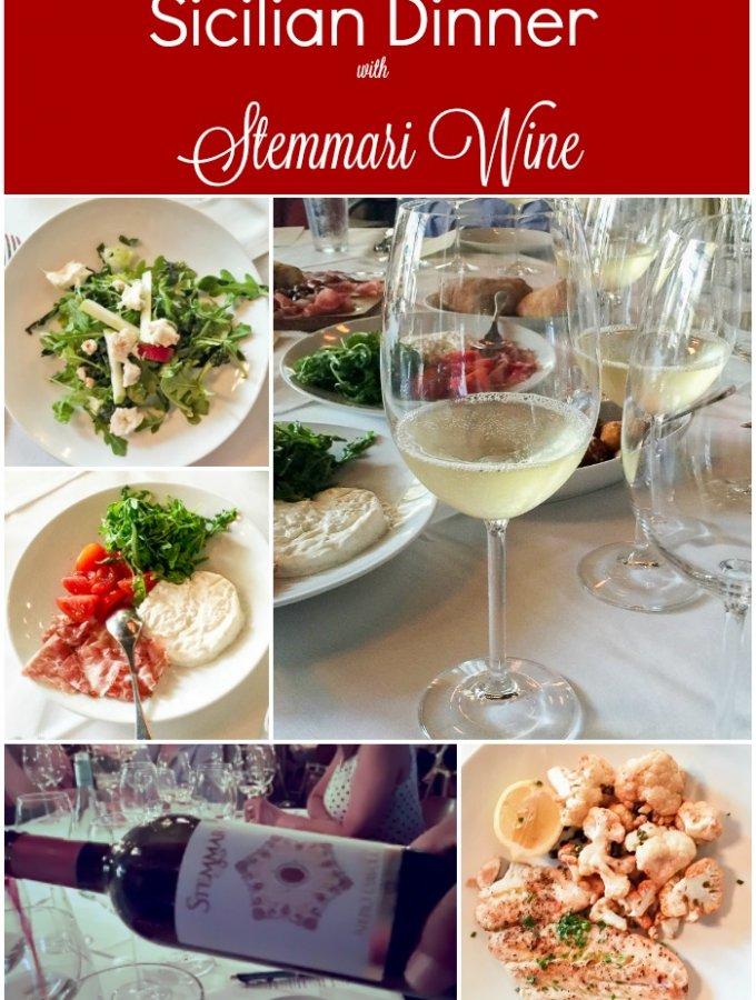 Sicilian Dinner with Stemmari Wine