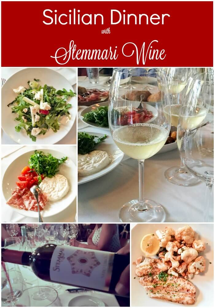 Sicilian Dinner with Stemmari Wine