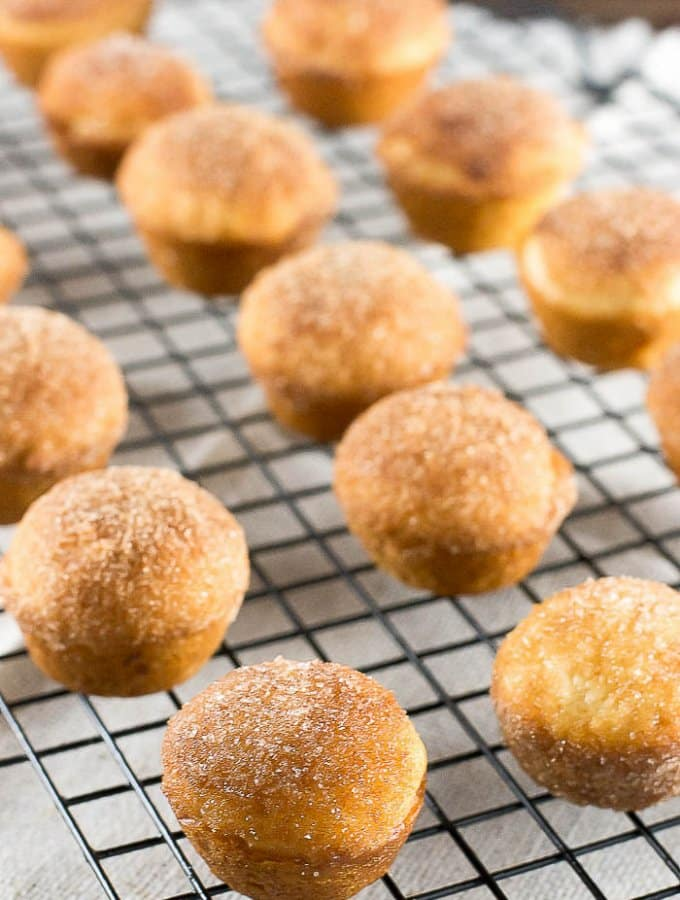 Churro Muffins with cinnamon sugar