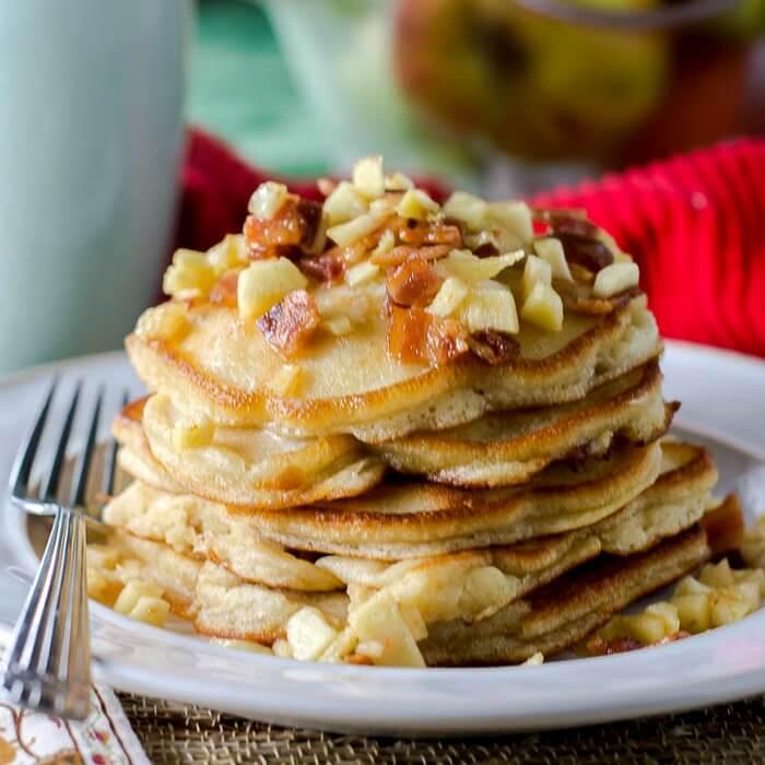 Apple Maple Bacon Pancakes - Flavor Mosaic