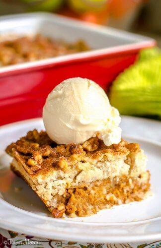 Pumpkin Walnut Crunch Cake - Crumble - Fall Dessert - Flavor Mosaic