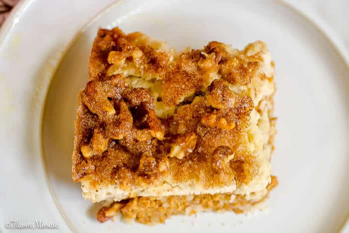 Pumpkin Walnut Crunch Cake - Crumble - Fall or Thanksgiving Dessert by Flavor Mosaic