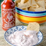 Sriracha Sour Cream Dip and Gridiron Grub Guru