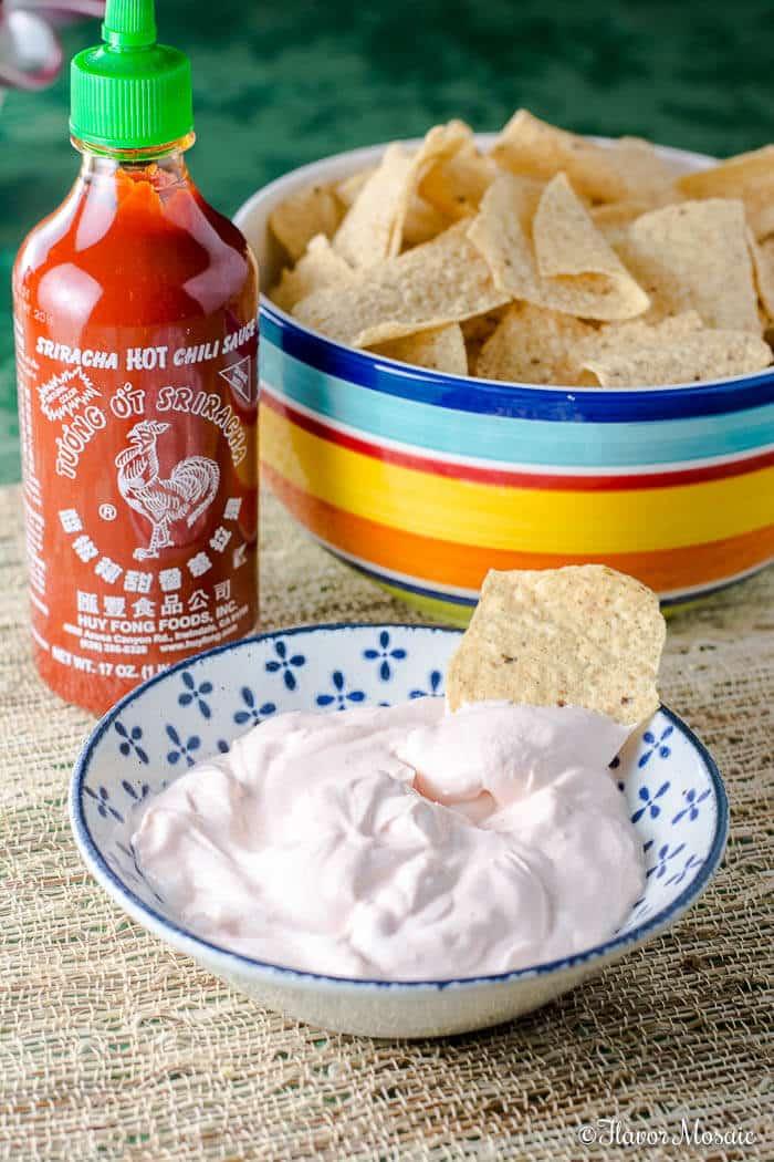 Sriracha Sour Cream Dip and Gridiron Grub Guru
