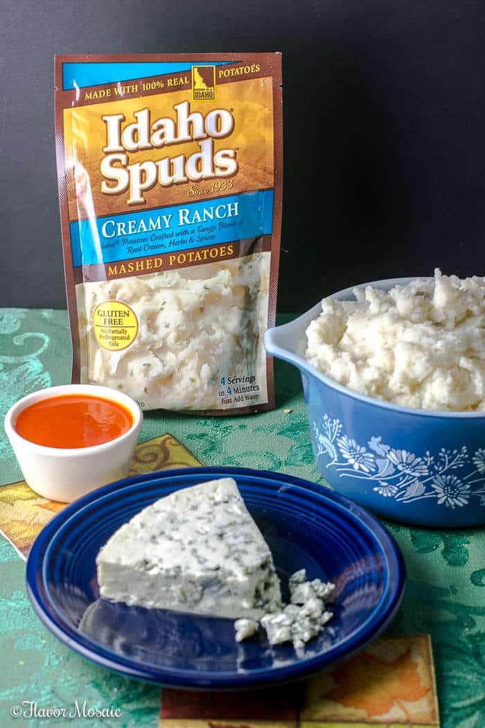 Buffalo Blue Cheese Potato Croquettes