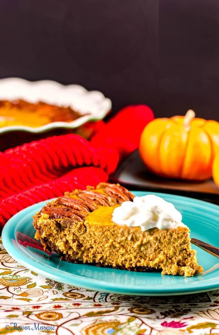 Pumpkin Pie - Sugar Free with a Ginger Cookie Crust