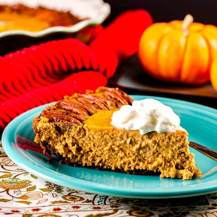 Pumpkin Pie with a Gingersnap Crust - Flavor Mosaic